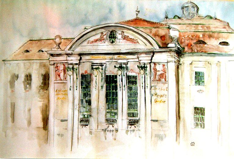 Wiener Konzerthaus, Aquarell